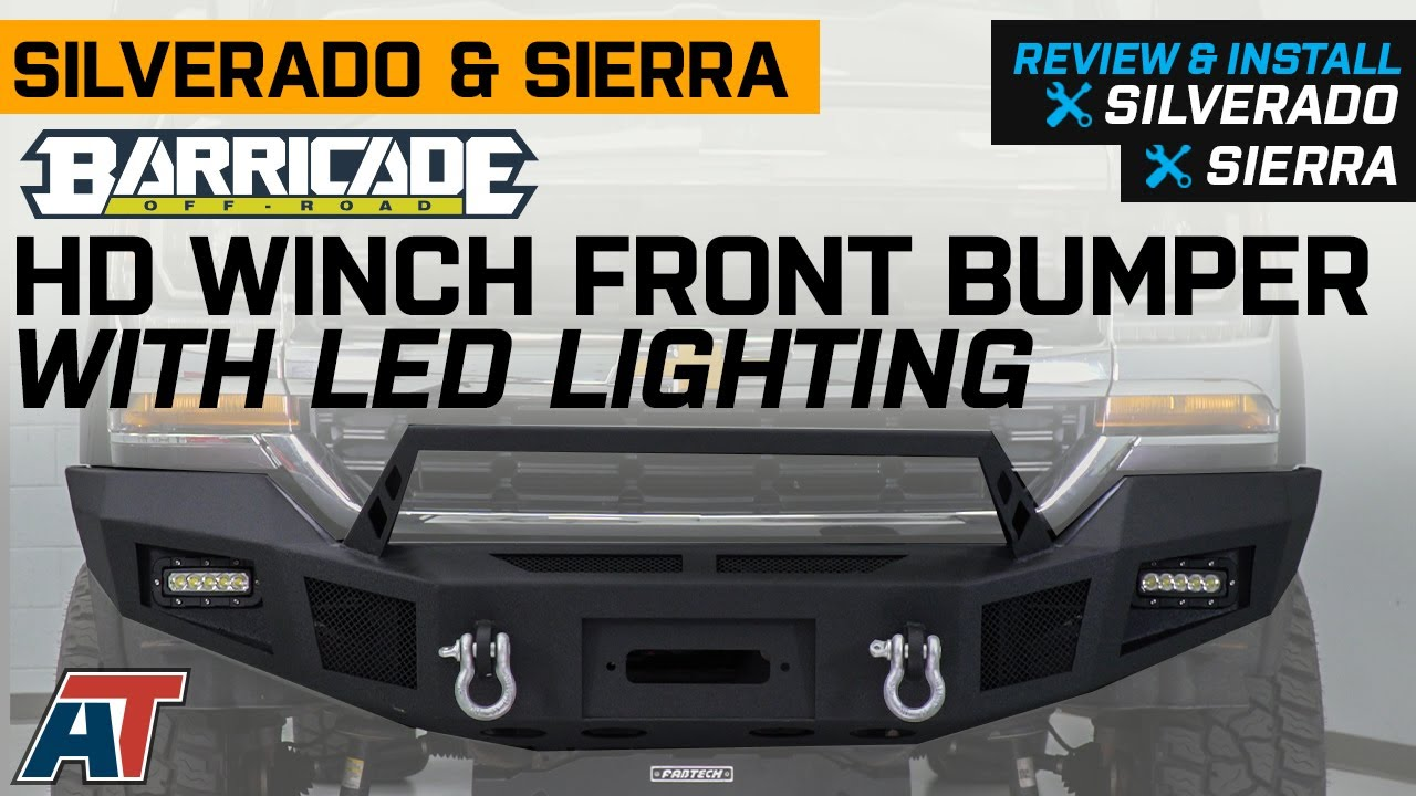2016-2018 Silverado 1500 Barricade HD Winch Front Bumper with LED Lighting Review & Install