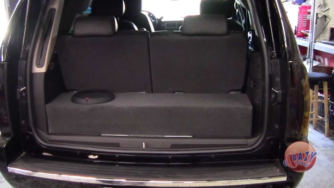 Crazy stereo yukon denali custom box rockford fosgate amp subwoofer youtube