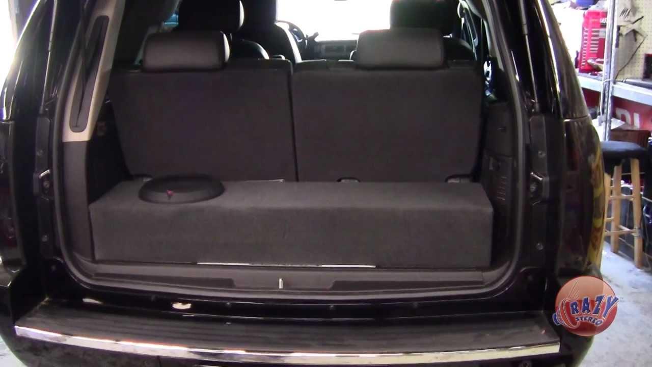 small resolution of crazy stereo yukon denali custom box rockford fosgate amp subwoofer youtube