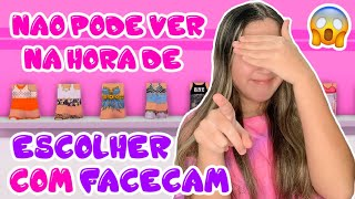 DESAFIO DO LOOK ÀS CEGAS COM FACECAM!😱
