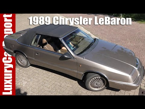 1989 Chrysler Lebaron Convertible Turbo Review Test Drive And Walkaround Youtube
