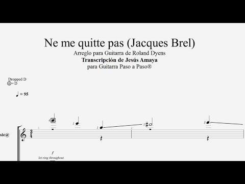 Ne me quite pass - Roland Dyens Tablatura por Jesús Amaya...