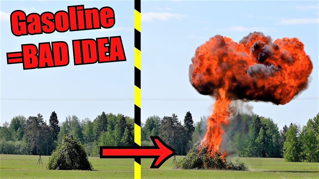 How not to light up giant bonfire