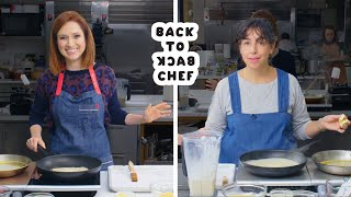 Download Ellie Kemper Tries to Keep Up with a Professional Chef | Back-to-Back Chef | Bon Appétit Mp3 and Videos