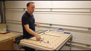 Festool MFT to temporary face frame Clamping table