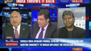 The Newshour Debate: India Hits Back  - Full Debate (17th Dec 2013)