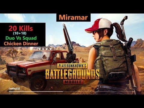[Hindi] PUBG Mobile   '20 Kills' Duo Vs Squad In Miramar#RON+SRten