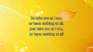 Mary J Blige - Take Me As I Am, Lyrics In Video