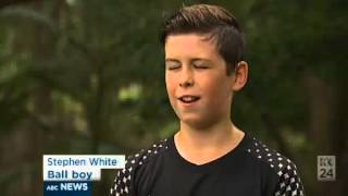Video 1:23          Brisbane schoolboy becomes lucky charm for China  s national soccer team