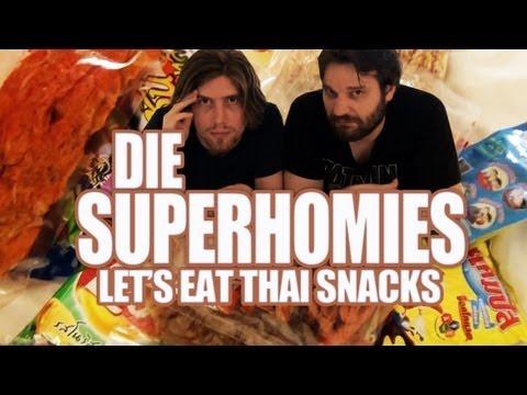 Die Superhomies in Thailand - Let's Eat Thai Snacks (mit Gronkh und Sarazar)