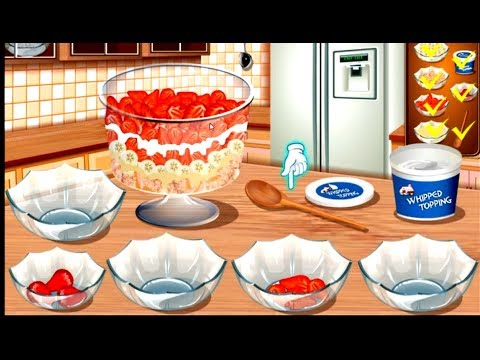 Cook Strawberry Trifle With Sara - Sara's Cooking Class - Fun Cooking Game