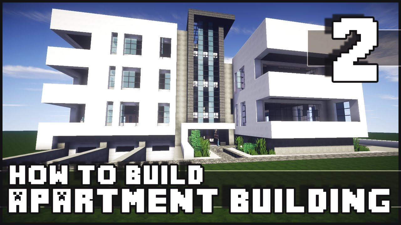 Minecraft how to build modern apartment building for Modern house 6 part 8