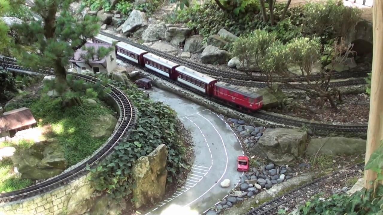 Jardin ferroviaire chatte 38160 france juillet 2017 for Jardin ferroviaire
