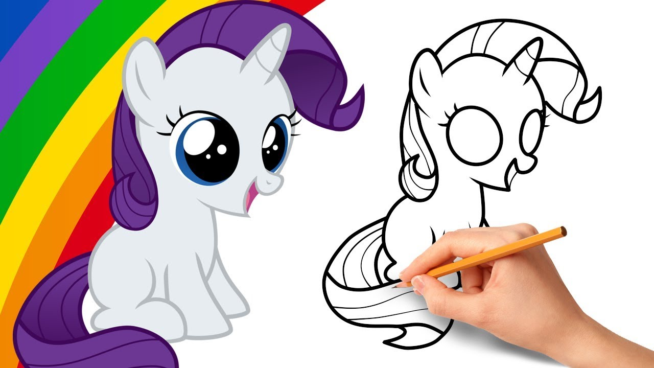 How To Draw Rarity From My Little Pony Youtube