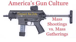 """Connect the Dots """"America's Gun Culture: Mass Shootings vs. Mass Gatherings"""""""