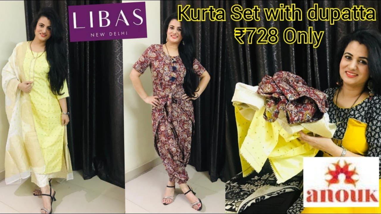 💥Myntra Shopping Haul💥|| Libas Kurta Set With Dupatta Review || Anouk A-Line Dress Review