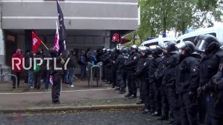 Germany: Far-right protesters march through Neumuenster to denounce gov. refugee policy