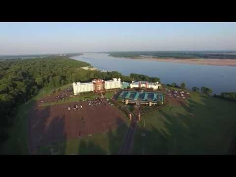 Flight at the Fitz Casino and Hotel - Tunica, MS - 4k Drone flight