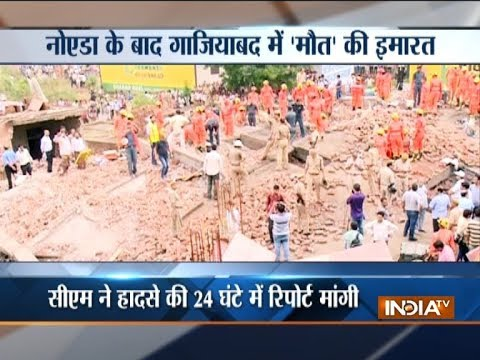 Uttar Pradesh: Under-contruction building collapses in Ghaziabad; one killed, over ten rescued