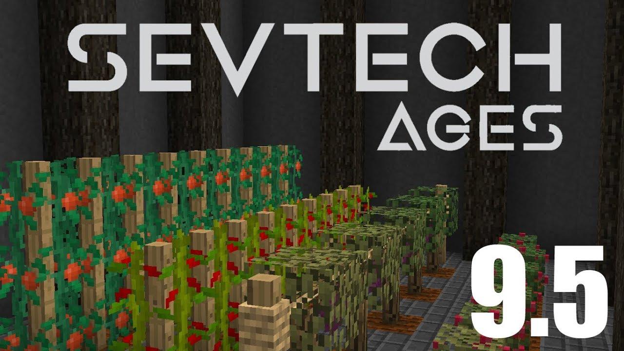 SevTech Ages |#9 5| Age 2 & Apiaries - Смотреть видео онлайн