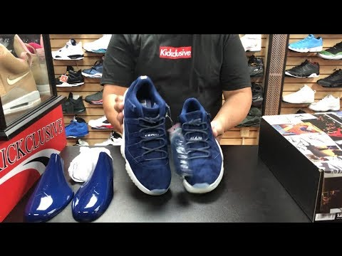ad9b370d10a FIRST LOOK NIKE AIR JORDAN RETRO 11 LOW JETER RE2PECT IN HAND AND ON FOOT  REVIEW
