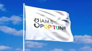 シャムポップチューンの旗が風になびく動画。 アニメーションGIF、透過P...