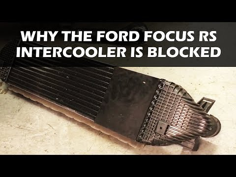 Why is the Ford Focus RS Intercooler Blocked Off?