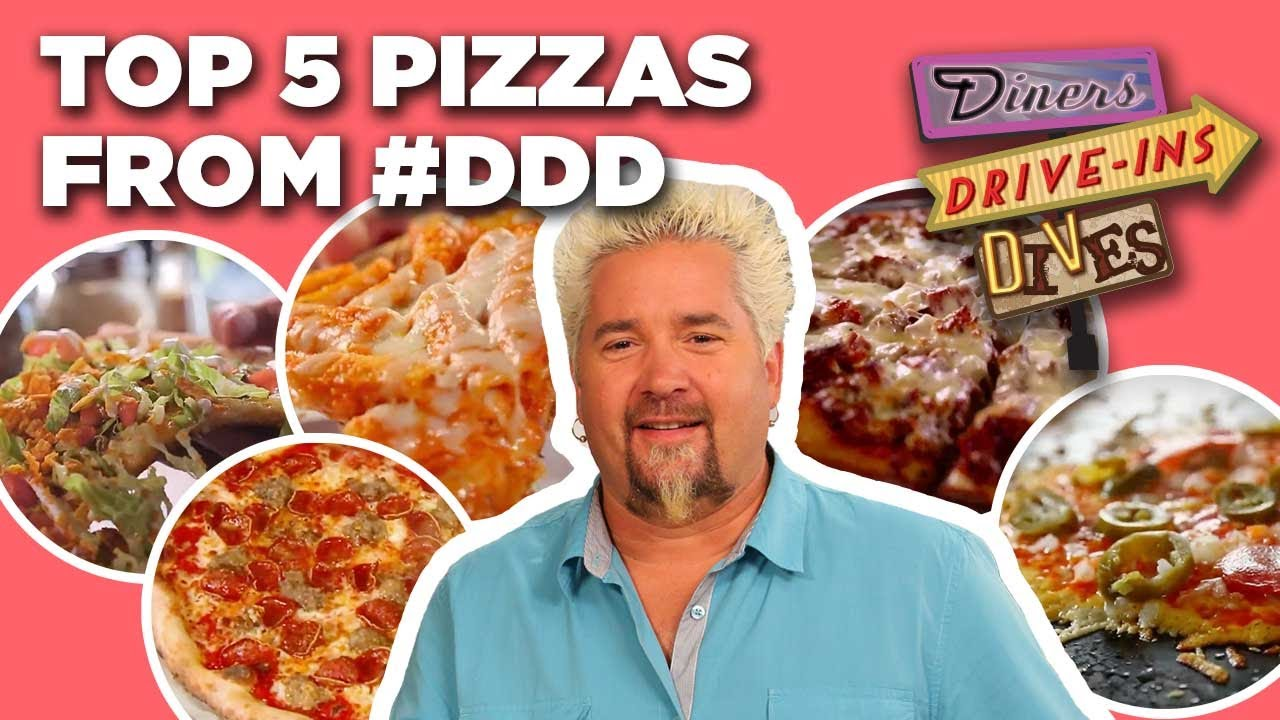 Download TOP 5 Pizzas in #DDD Video History with Guy Fieri | Diners, Drive-Ins and Dives | Food Network