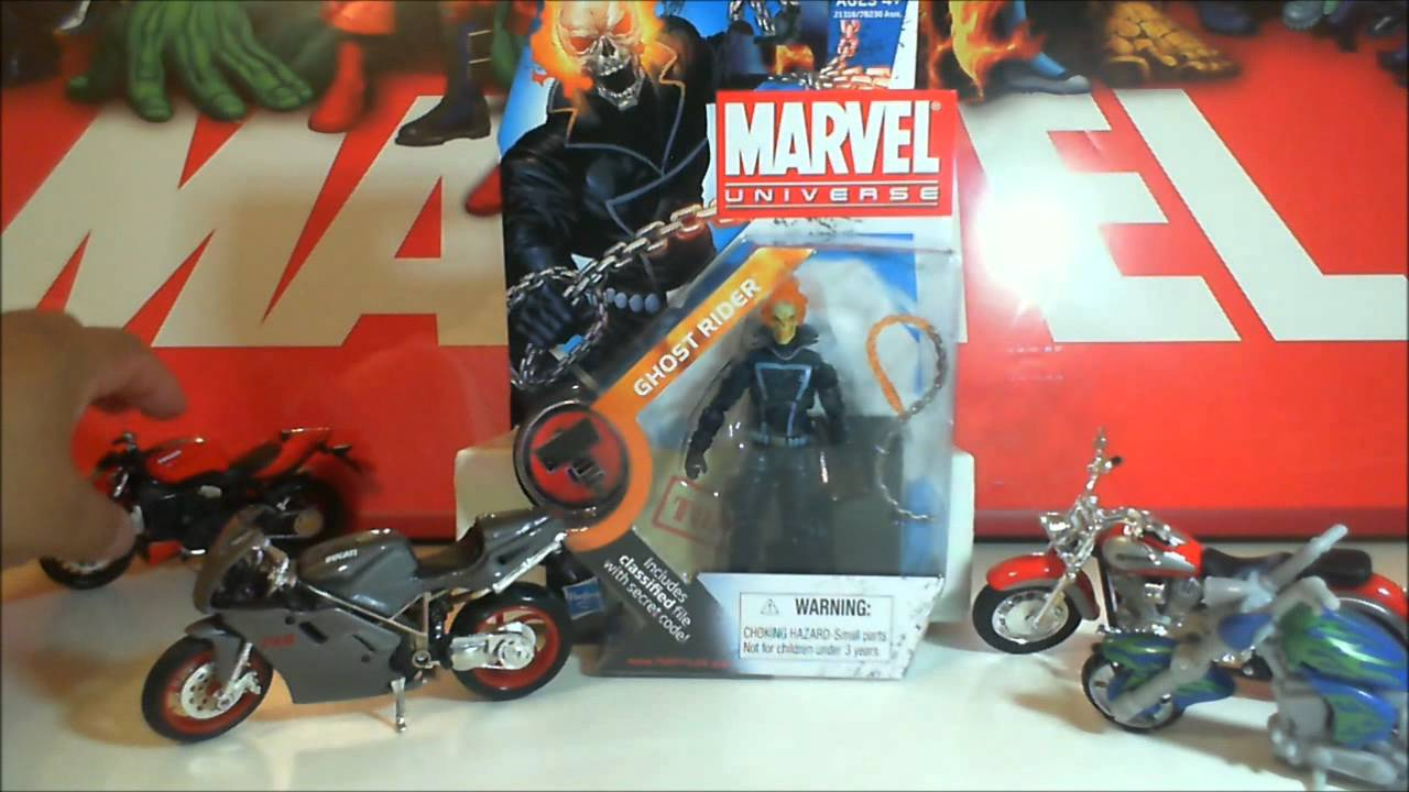 Marvel Ghost Rider with Motorcycle//Bike Super heroes Figure New