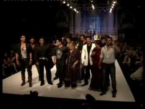 Bollywood Stars on the ramp at HDIL India Couture Week