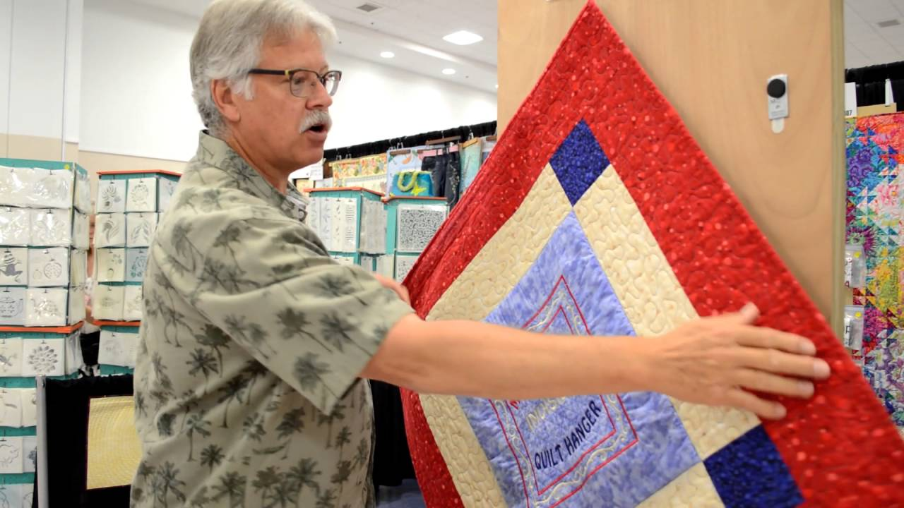Quilt Hanger Demo - YouTube : portable quilt hangers - Adamdwight.com