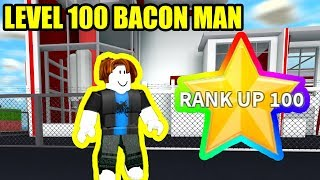 BACON HAIR gets RANK 100 HYPERDRIVE   Roblox Mad City