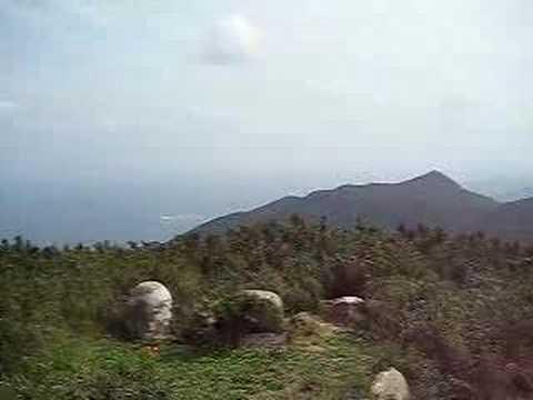 於茂登岳の山頂からの景色(北)