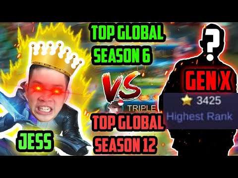 JESS GUSION VS GEN X!! TOP 1 SEASON 6 VS TOP 1 SEASON 12!! (Gameplay Only) - Mobile Legends