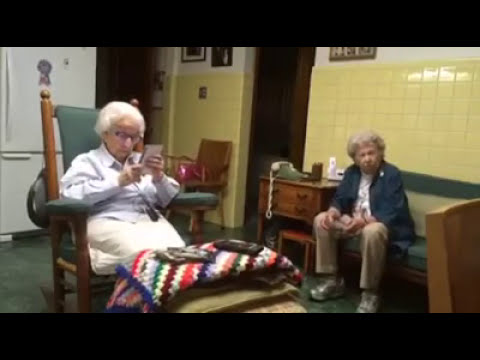 Elderly Sisters Quarrel with Each Other