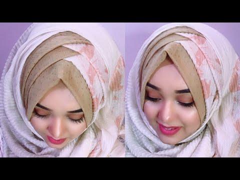 Criss Cross Party Hijab Tutorial For Wedding Season Nawreen Youtube
