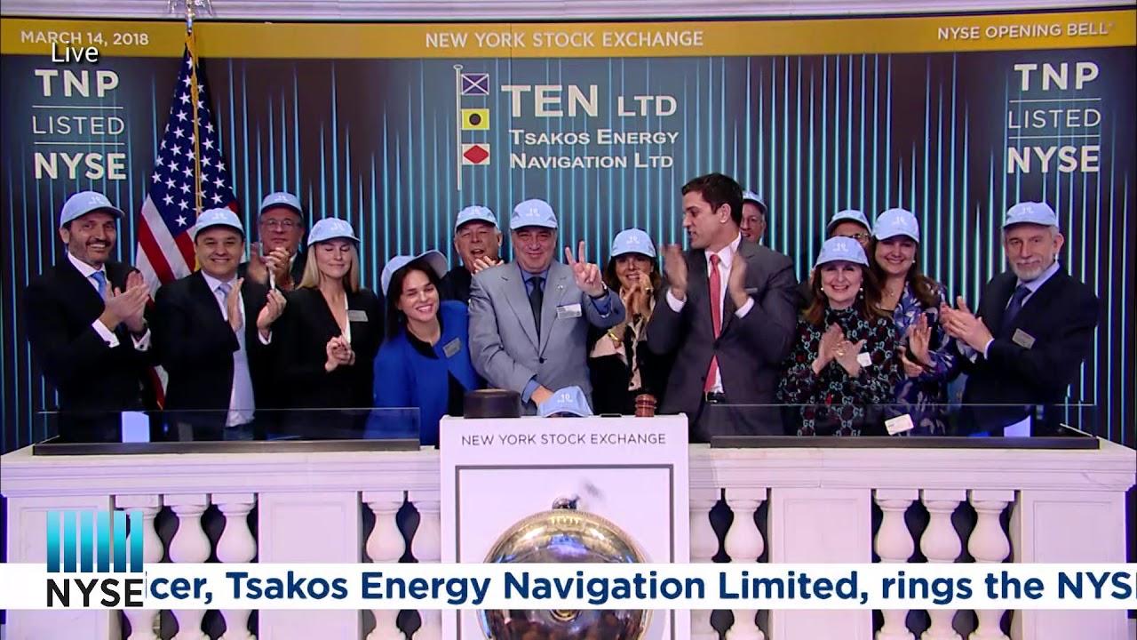 Tsakos Energy Navigation Limited (NYSE: TNP) Rings the NYSE Opening Bell