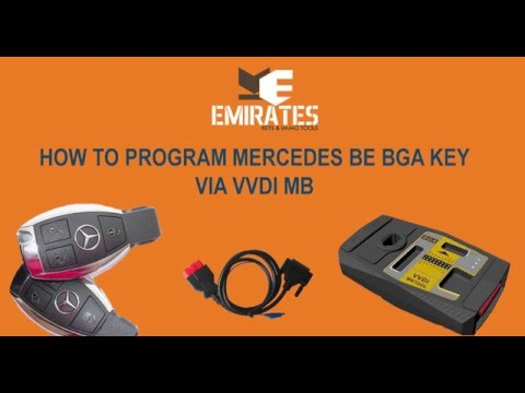 How To Program Mercedes BE BGA Key via VVDI MB