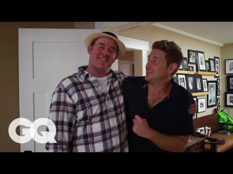 Anchorman Actor David Koechner Shows Jason Nash How to Be the Best - GQ's How to Be a Man