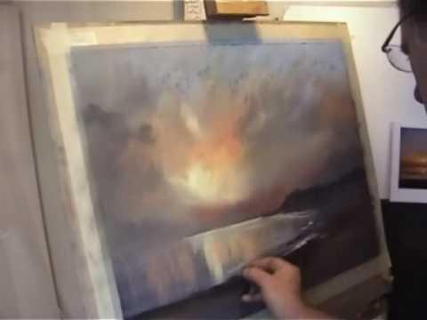 Pastel Landscape painting by Les Darlow.wmv