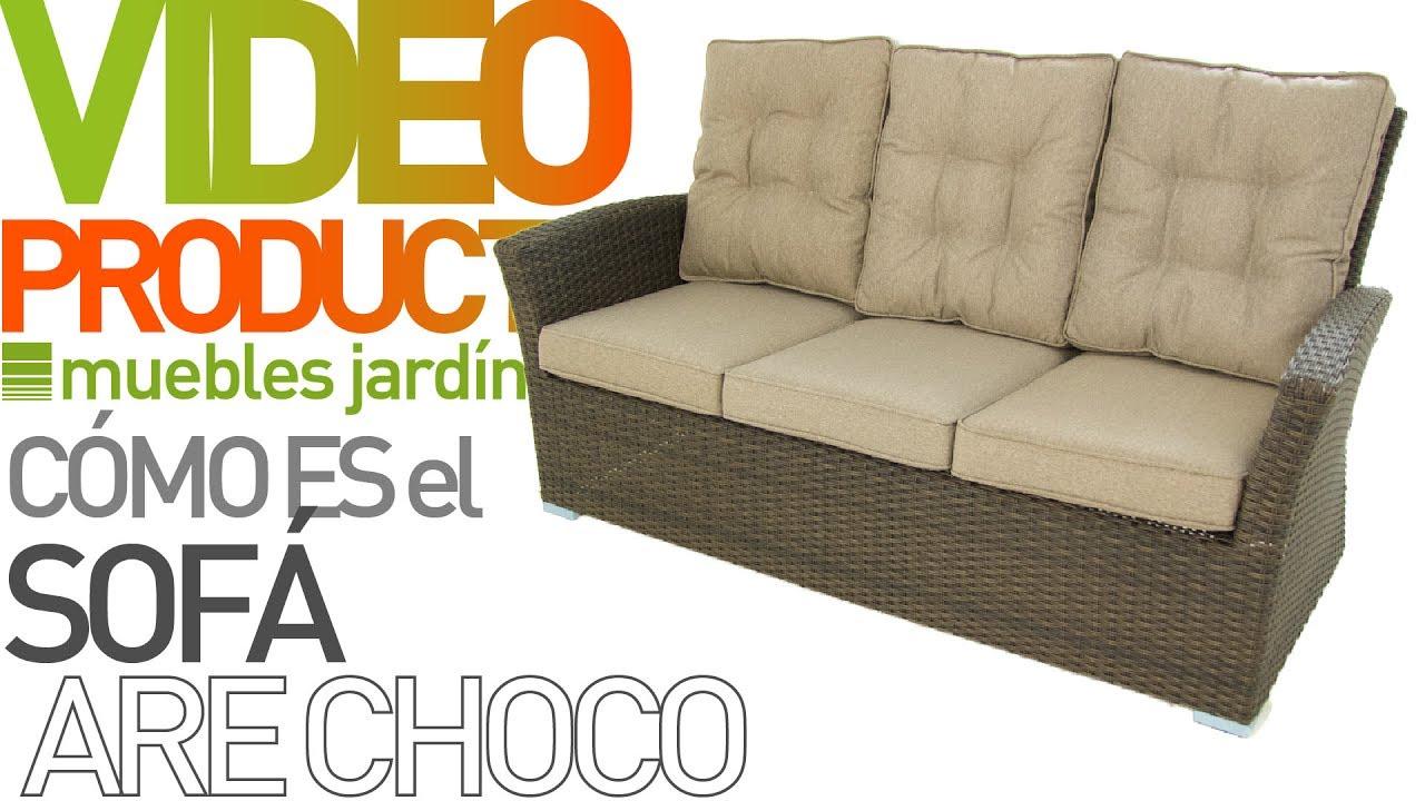 Descubre el nuevo sofá para exterior Are Choco- Muebles Jardín - YouTube
