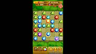 Gemcrafter: Puzzle Journey - iOS & Android Gameplay & Walkthrough for Jungles Level 61 (No key)