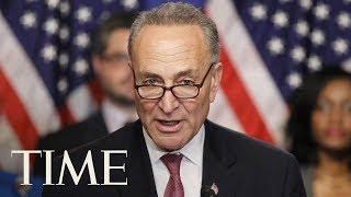 Senate Minority Leader Chuck Schumer Protests Secretive Republican Health Care Bill In Senate | TIME thumbnail