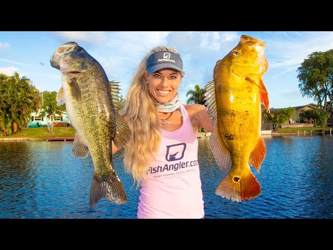 Best Tasting Fish REVEALED! Catch Clean Cook- Largemouth & Peacock Bass Taste Test!