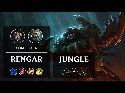 Rengar Jungle vs Kha'Zix - EUW Challenger Patch 8.24