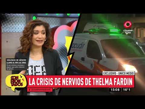 Thelma Fardín sufrió una crisis de nervios