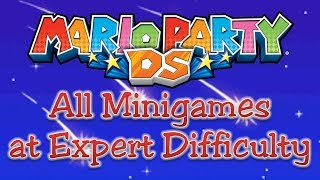 Mario Party DS - All Minigames at Expert Difficulty