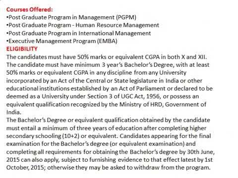 PGPM Admissions In Management Development Institute MDI, Gurgaon