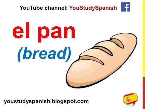 Spanish Lesson 44 - FOOD In Spanish Vocabulary For Children Meals Fruits And Vegetables Fish Meat