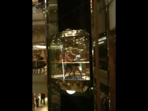 Esbôôôrnia no elevador - Vision of the Seas